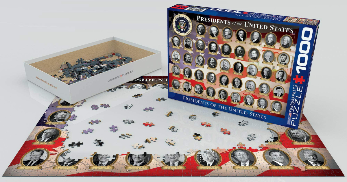 large puzzle featuring US Presidents