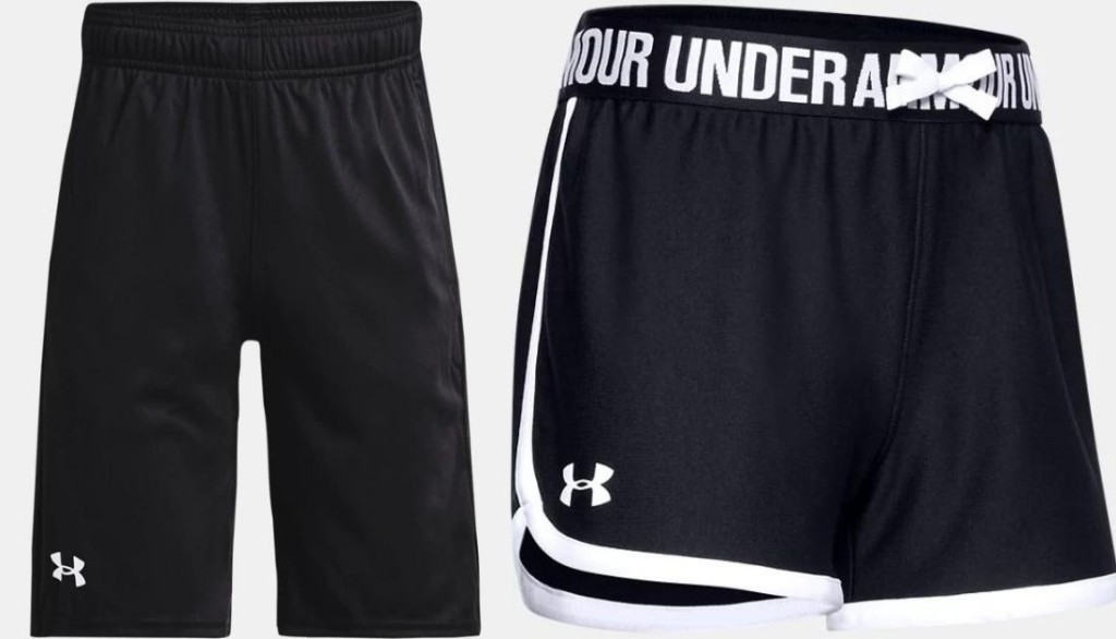 two pairs of UA shorts