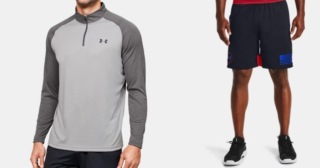 two men wearing Under Armour apparel