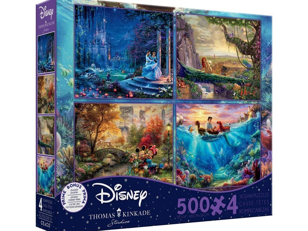 FOUR 500-Piece Disney Jigsaw Puzzles