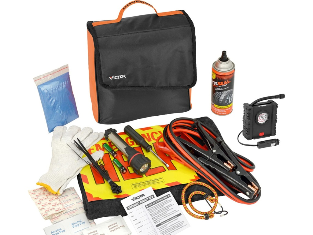 Victor 104-Piece Covered Emergency Road Kit
