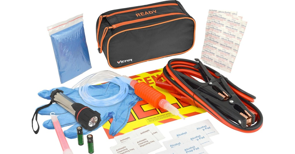 Victor 36-Piece Ready Emergency Road Kit