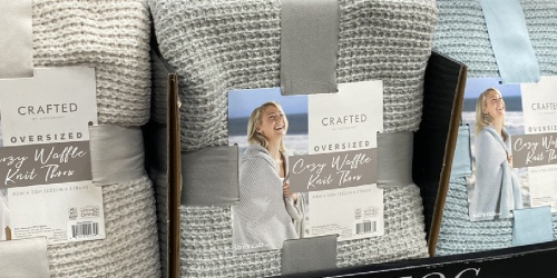 Score this Barefoot Dreams Waffle Knit Throw Dupe for Only $19.98 at Sam's Club