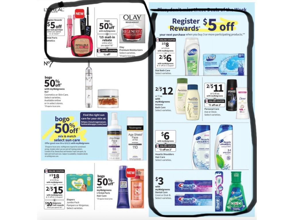 circle best deals in walgreens ad