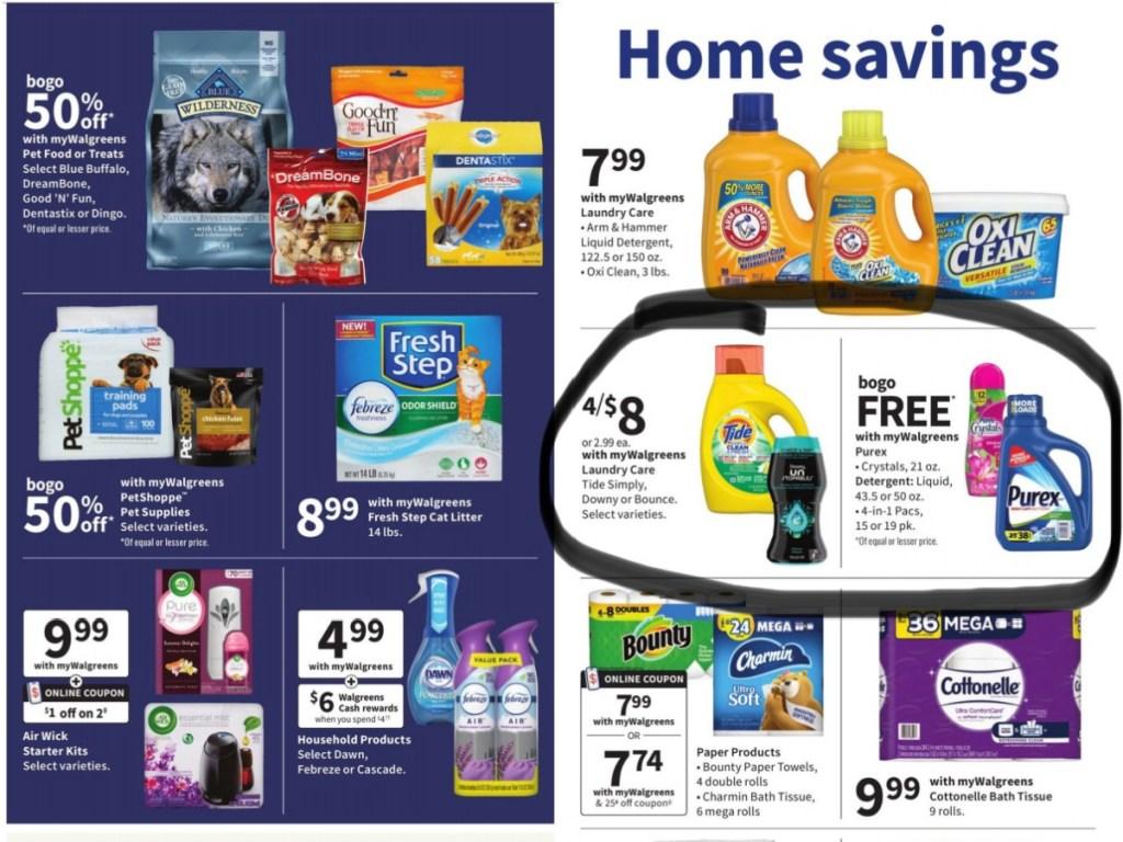 ad items circled for walgreens