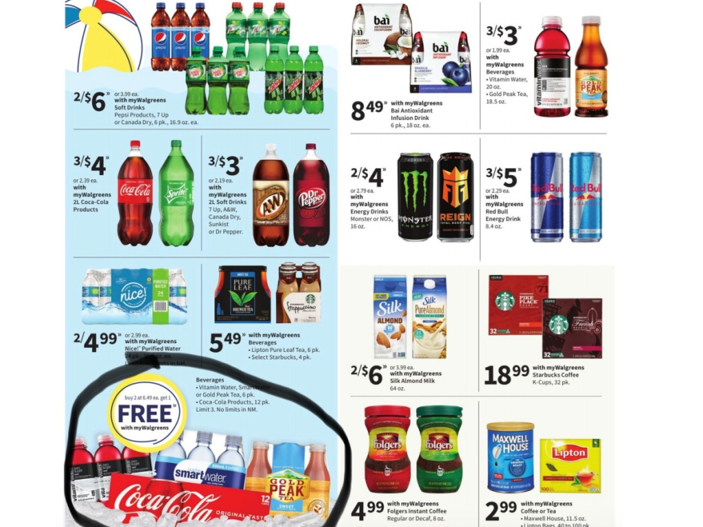 coke products circled in Walgreens ad