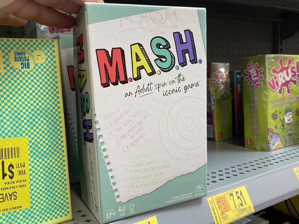 mash game on store shelf