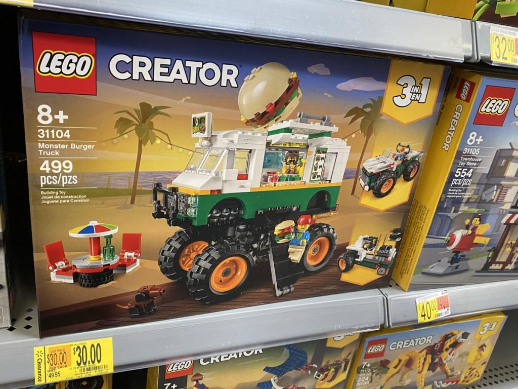 lego monster truck on walmart shelf