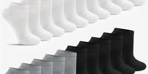 Women's Low-Cut Socks 20-Pack Only $9.99 on Macy's.com (Regularly $30)