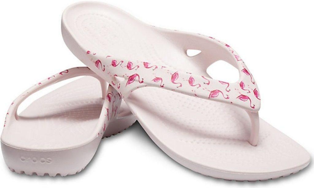 women's Crocs flip flops