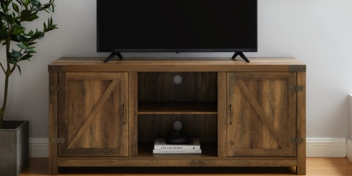 Modern Farmhouse TV Stand Only $129 Shipped on Walmart.com (Regularly $250)