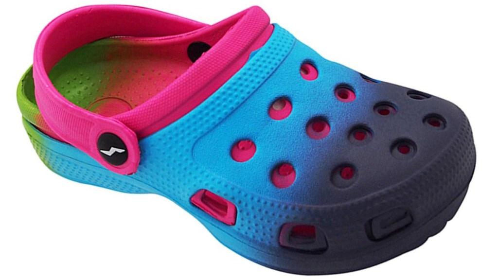 rainbown clog shoes