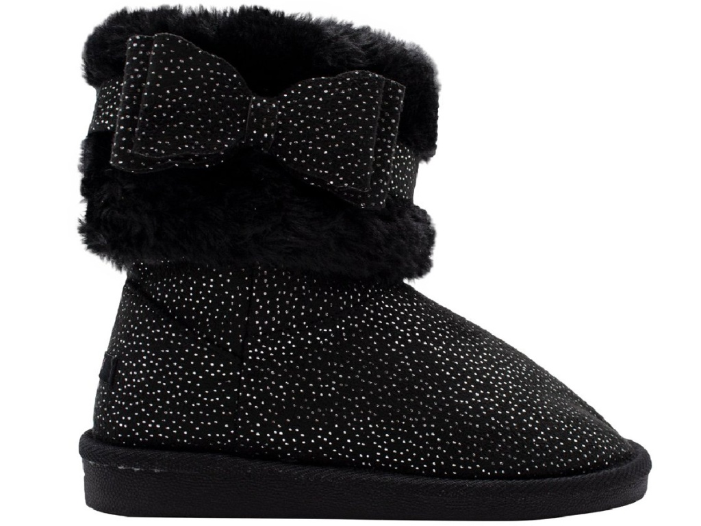 black fuzzy girls boots