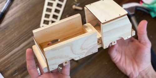 Score 50% Off a Young Woodworkers Craft Kit | Screen-Free Gift Idea for Kids 7-12 Years Old