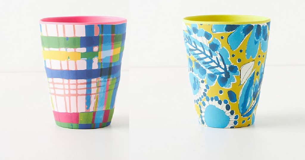 colorful artistic painted tumblers