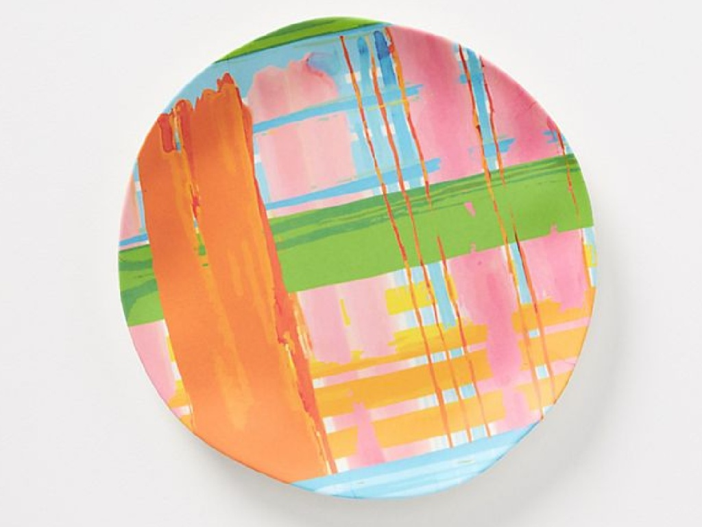 colorful artistic plate