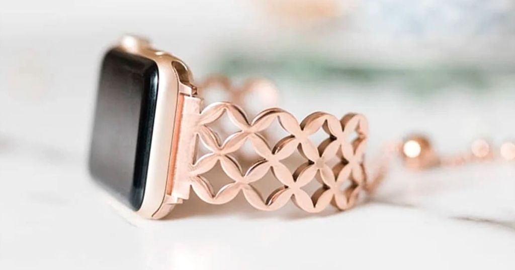 rose gold apple watch bracelet