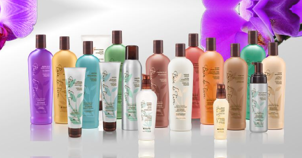 bottles of hair care lined up