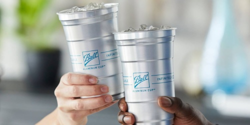 Upgrade Your Red Plastic Cup to These Infinitely Recyclable Ball Aluminum Cups
