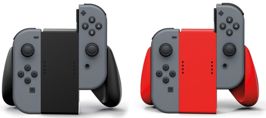black and red joy con grips