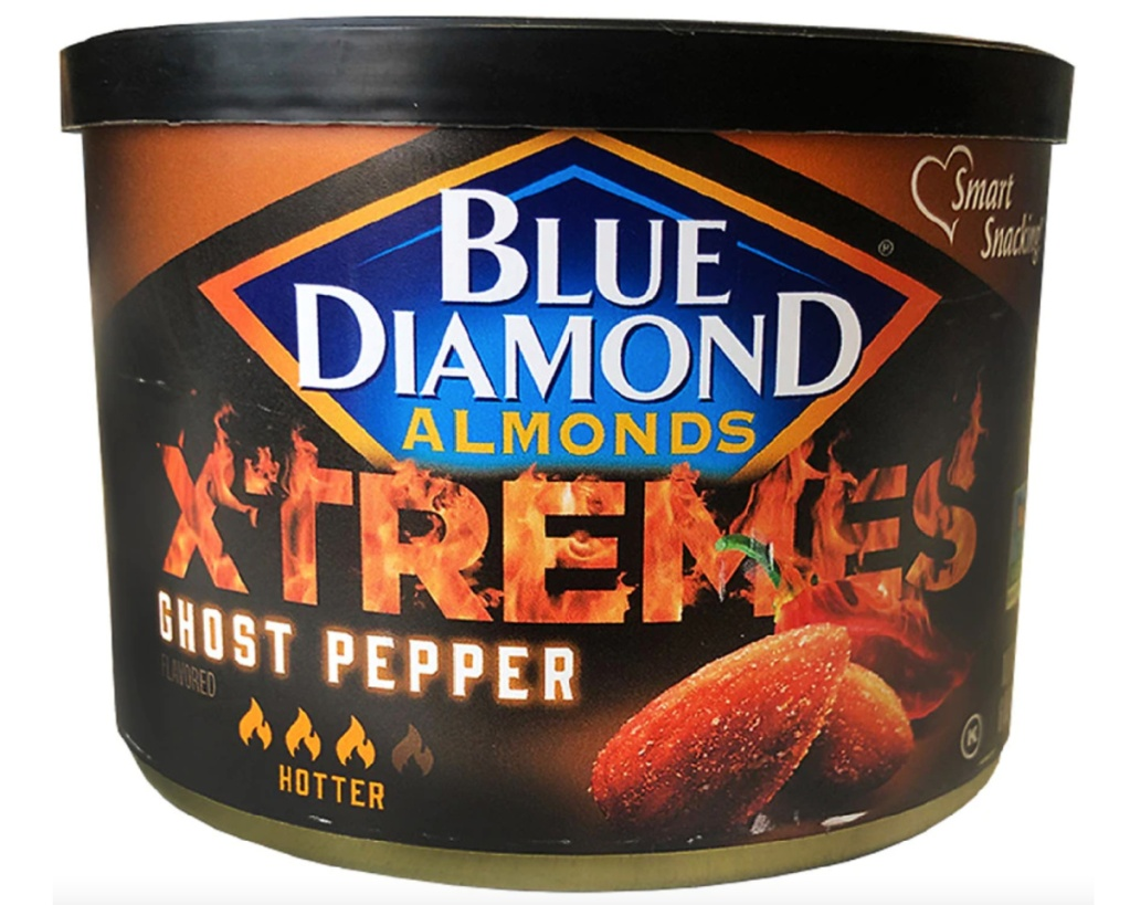 blue diamond almonds xtreme ghost pepper can