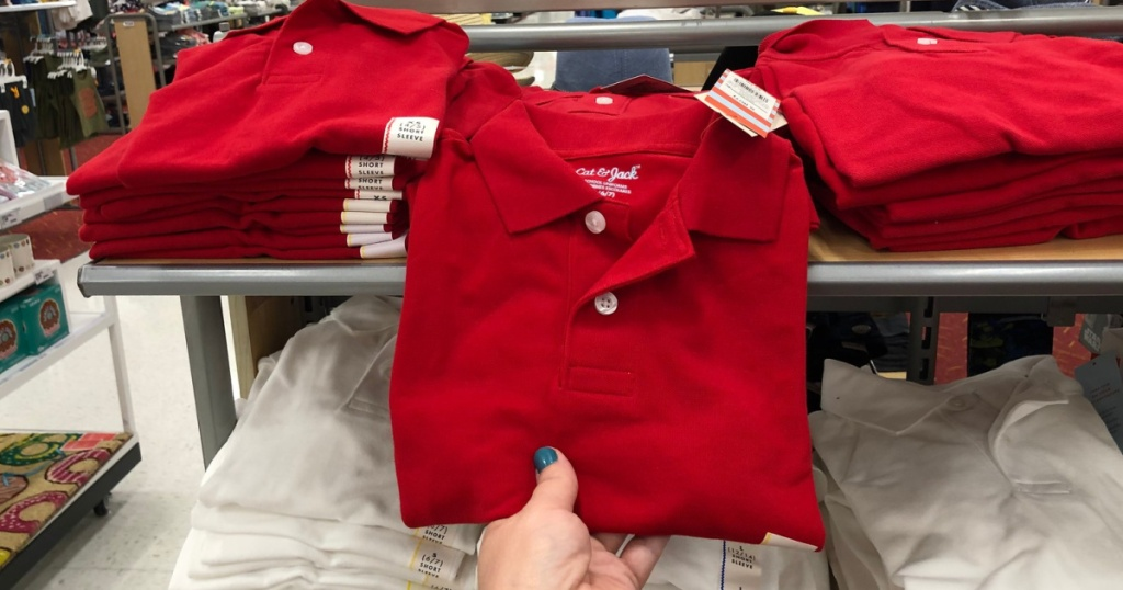 cat & jack red polo