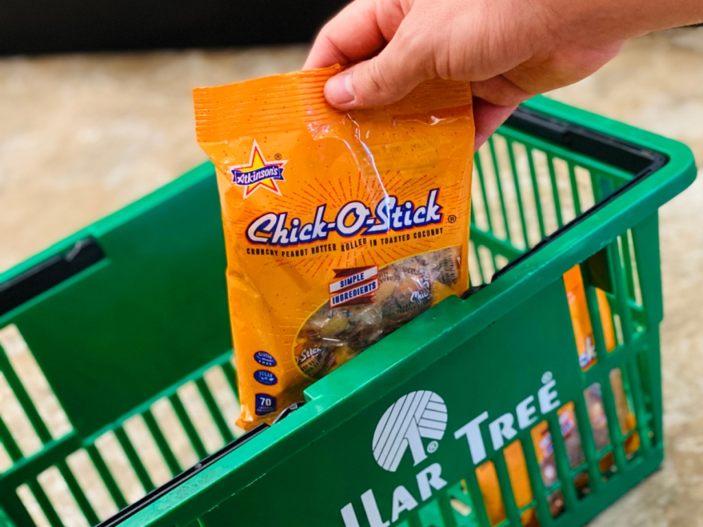 candy in dollar tree basket