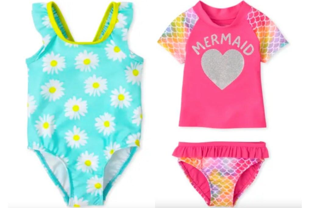 childrens place girls swim