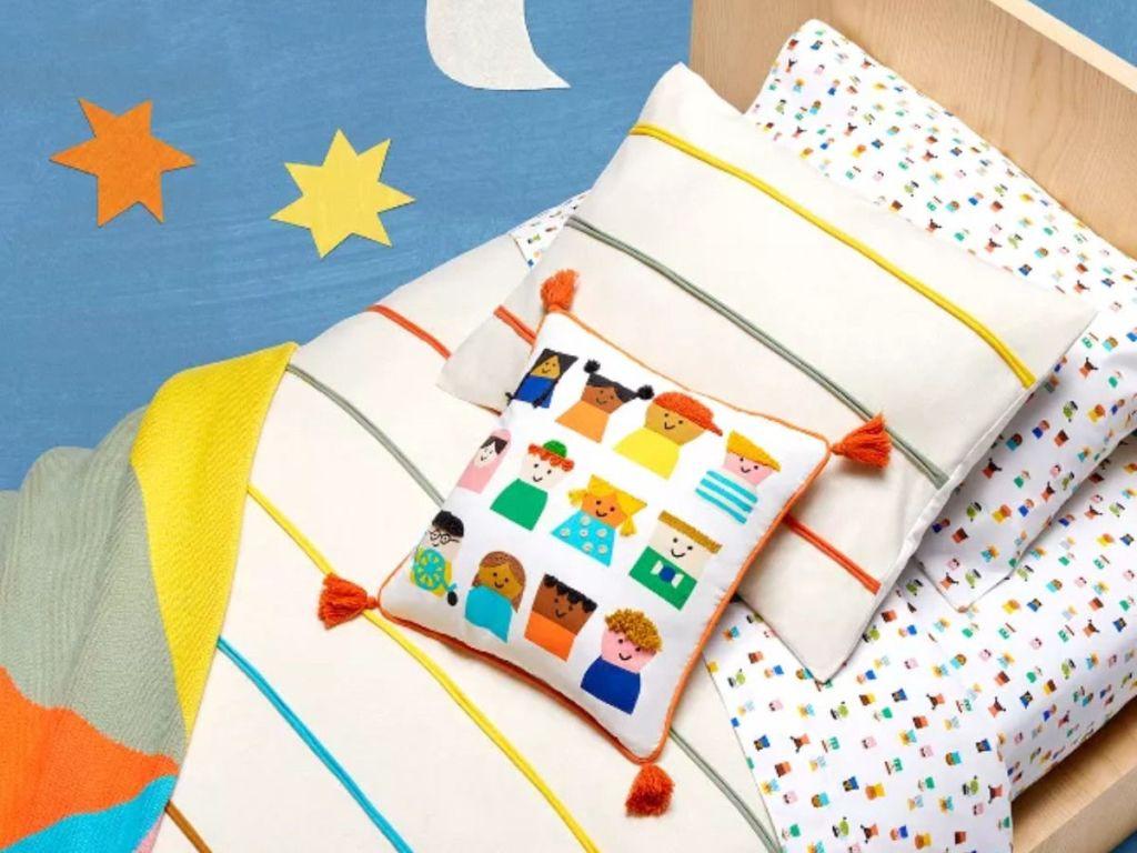 colorful children's bedding