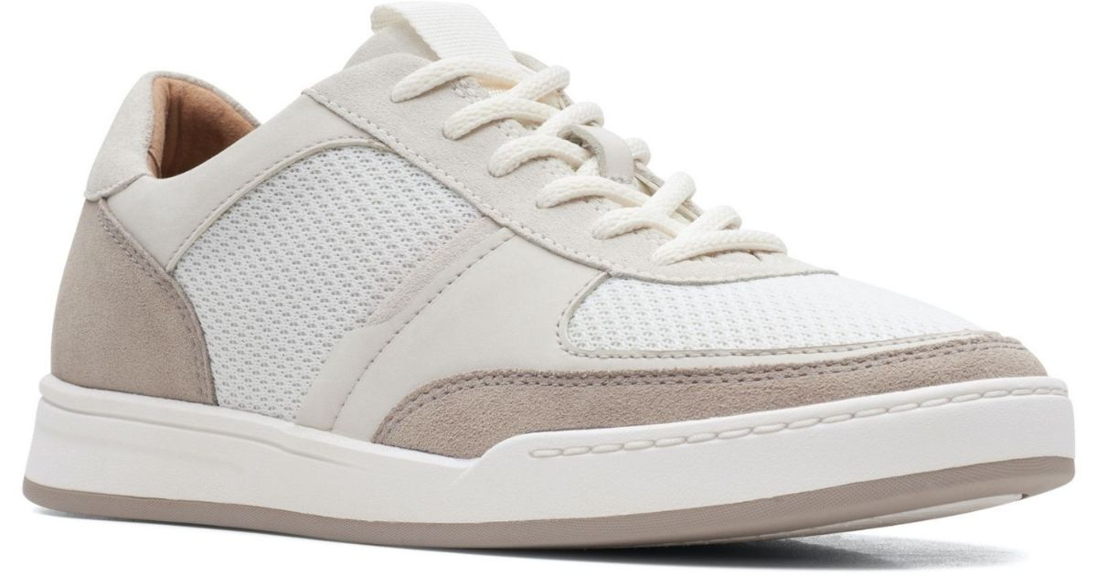 white and tan shoes