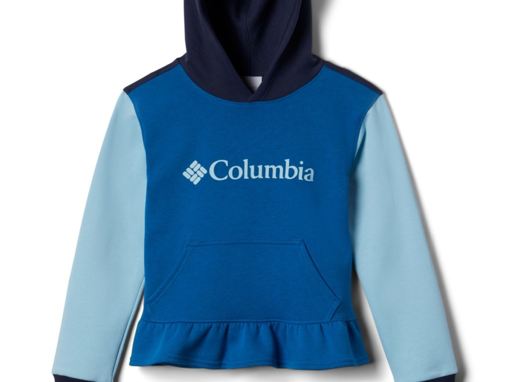 teal colored soft hoodie for little girl