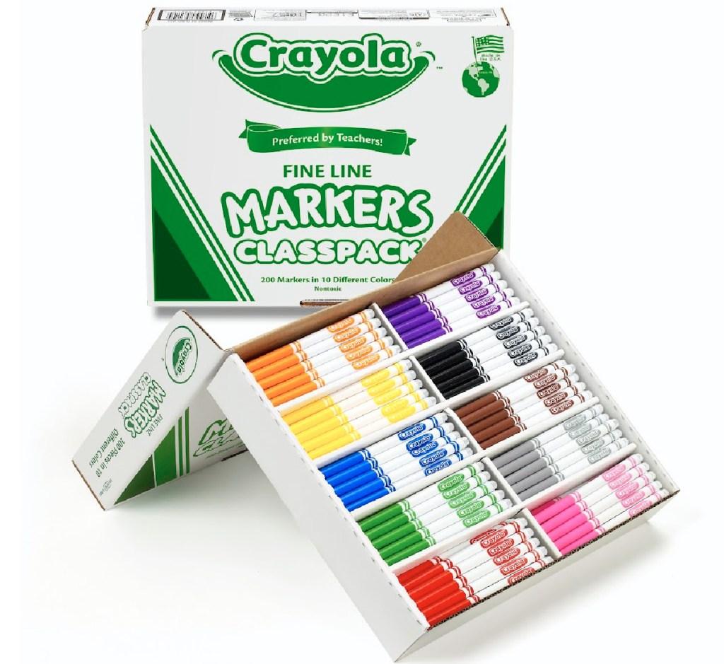 crayola fine line markers classpack