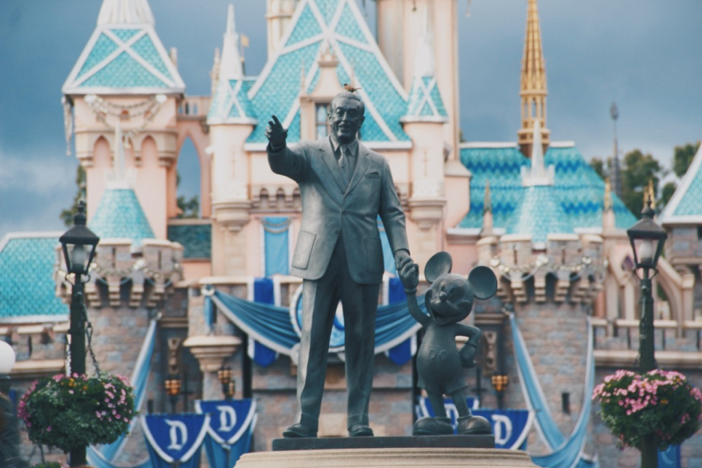 Entrance to Disney World with Mickey Mouse statue