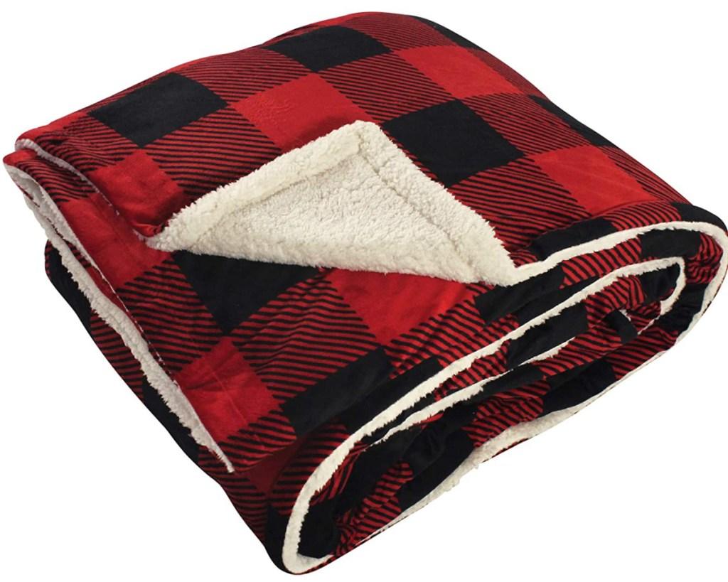 buffalo plaid flannel blanket