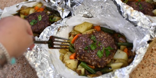 4 Easy Foil Packet Meals to Throw in the Oven, on the Grill, Or Take Camping (+ Dessert Idea)