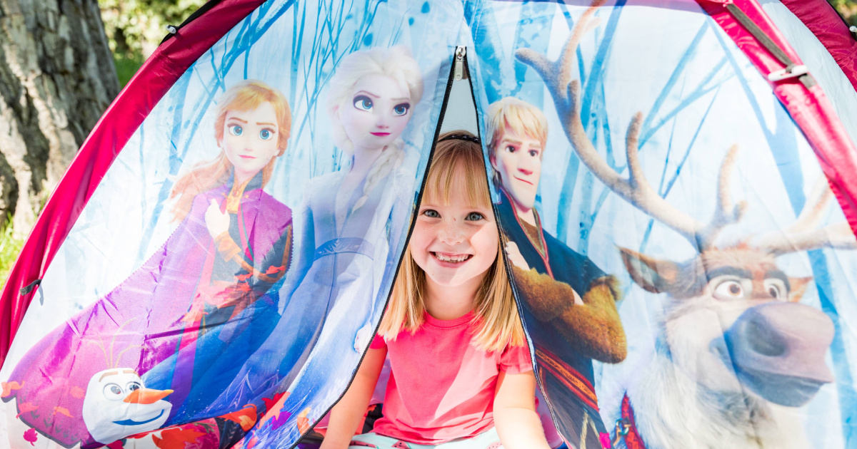 frozen tent with little girl