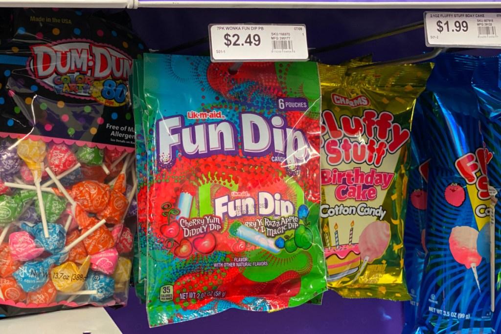 fun dip on display