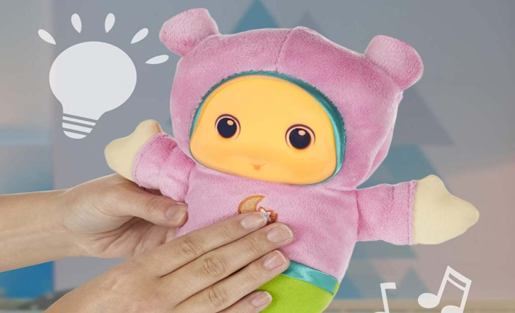 gloworm infant toy pink