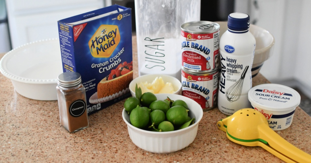 ingredients for key lime pie