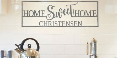 Personalized Home Sweet Home Sign Just $21.99 Shipped on Jane.com (Regularly $70)