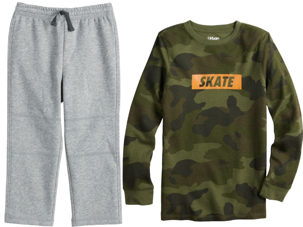 jogger and graphic t-shirt