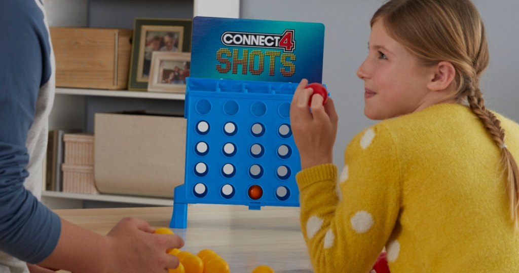kids playing connect4 shots