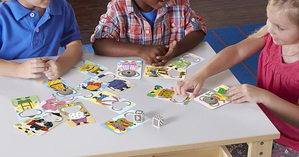 kids playing educational game