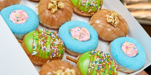 New Carnival Doughnuts at Krispy Kreme + Buy Any Dozen, Get 1 Dozen Glazed Doughnuts for $1