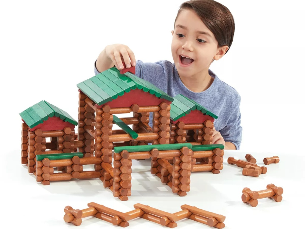 lincoln logs with kid