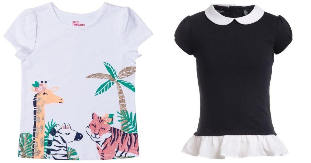 kids jungle t-shirt and layered uniform top