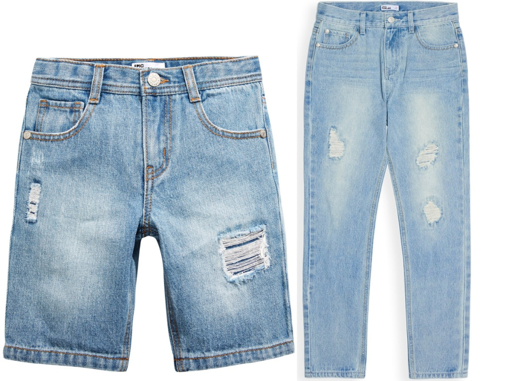 boys denim shorts and jeans