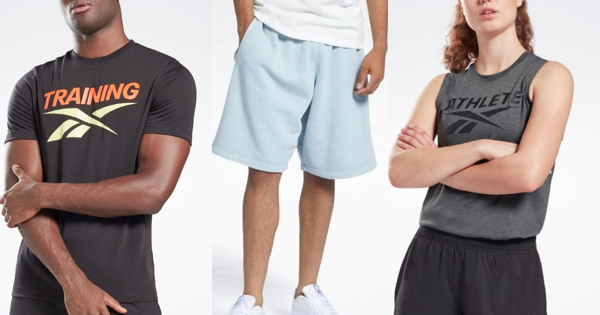 men's and women's apparel from Reebok