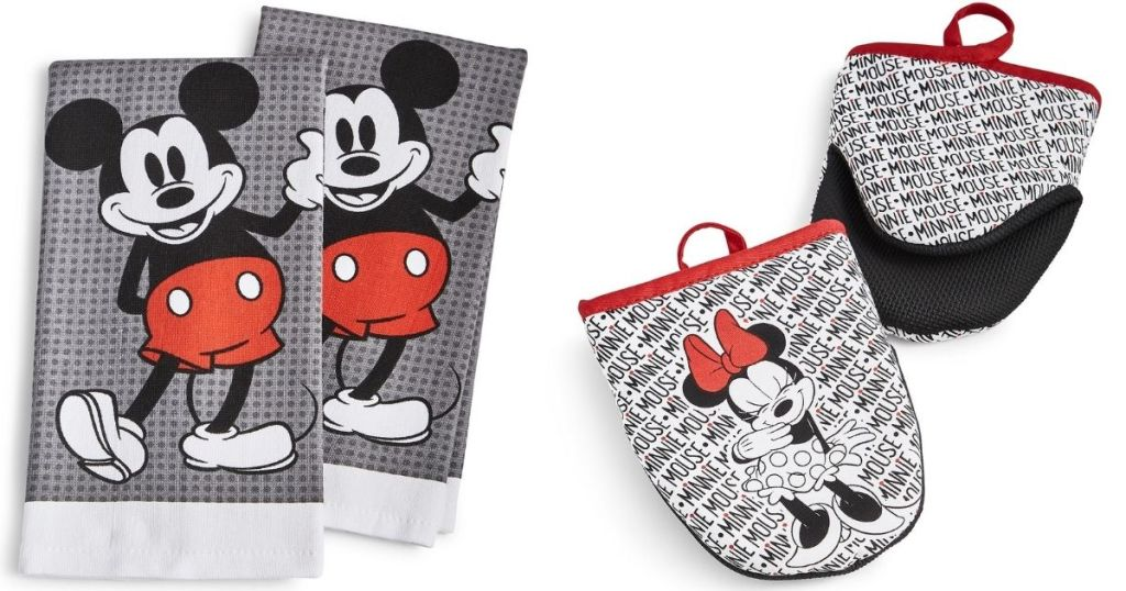 mickey towels and Minnie pot holders
