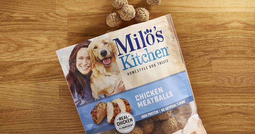 milos kitchen meatballs out of bag